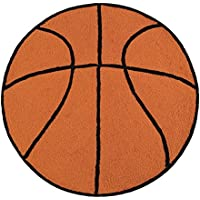 C&F Home Hooked Basketball Sport Rug, Brown
