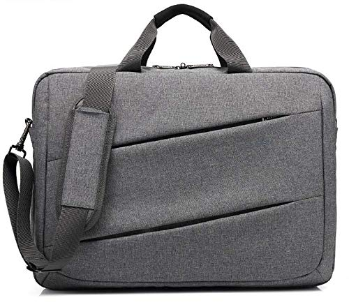 Travel Business Briefcase Shoulder Messenger Bag Case for Asus TUF Gaming FX705 / Alienware Area-51m / MSI GS75 Stealth / GT75 Titan/LG Gram 17 / HP Omen 17 / ZBook 17 G4 Laptop (Gray)