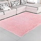 80X120cm Floor Carpets Anti Slip Bedroom Soft Mat Models Silky Carpet Mats Sofa Skin Rugs Pink 80x120cm
