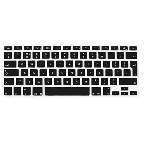 Amazon.com: eDealMax Teclado de silicona británica de la UE la película del Protector Negro Para Apple MacBook Air 13: Electronics