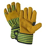 John Deere JD00024 Just Like Dad Leather Gloves, Youth, Tan