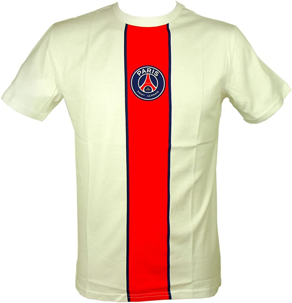 Amazon Com Psg Official Paris Saint Germain Men S T Shirt White S Clothing