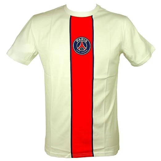 4bb72fe53c940 Amazon.com: PSG - Official Paris Saint-Germain Men's T-Shirt - White ...