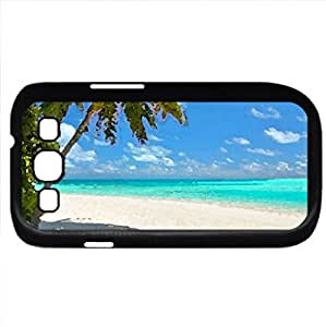 Tropical Beach (Beaches Series) Watercolor style - Case Cover For Samsung Galaxy S3 i9300 (Black)