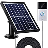 Gejoy Solar Panel Compatible with Ring Video Doorbell 1/2 with Security Wall Mount, 3.6 m/ 11.8 ft Power Cable, Waterproof Charge Continuously (for Doorbell 1)