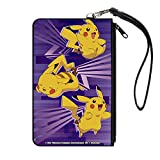 Pokemon Pikachu Purple Canvas Zip Wallet