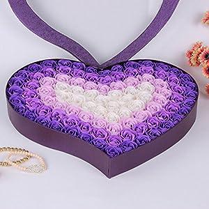 FYYDNZA 100Pcs/Set Guest Scented Bath Soaps Flower Shaped Petals Of Roses For Valentine'S Day Decoration Flowers,A3 35