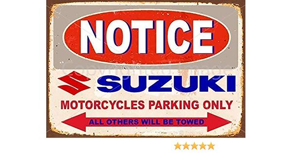 Suzuki parking sign for garage man cave home