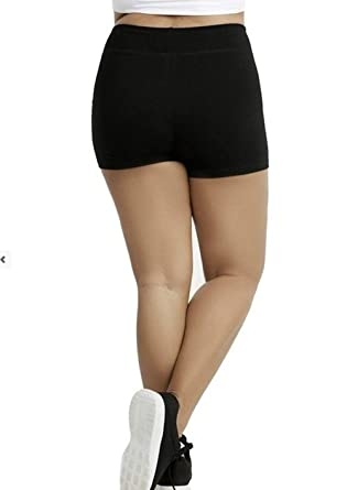 75de11ce4e5 CurvyLuv.com Women s Plus Size Booty Shorts Cotton Comfortable Stretch Yoga  Short (Small