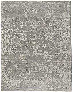 """product image for Capel Jain Silver 9' 0"""" x 12' 0"""" Rectangle Hand Knotted Rug"""