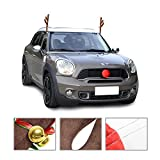 #8: Mak Tools Christmas Reindeer Antlers Car Decoration Kit With Jingle Bell