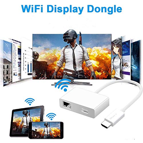 WiFi Display Dongle, iBosi Cheng Wireless Display Receiver Wireless Audio Receivers Support Full HD 1080P for iOS & Android Smartphone, Mac OS & Windows Laptops, Works with Google Assistant