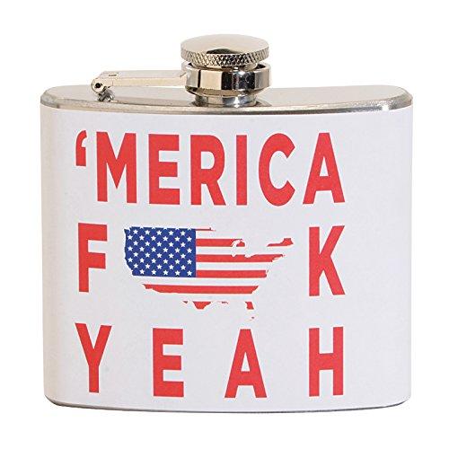 - 'Merica Fk Yeah 5 oz. Stainless Steel Flask