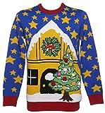 Weihnachtsszene Pullover mit Licht