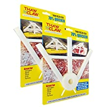 THAW CLAW [2 PACK] - Defrost frozen food FAST & EASY! As Seen on Social Media. Works great on chicken, beef & pork.