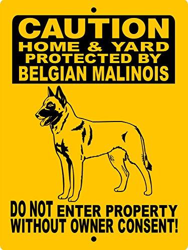 Mentalsign Belgian Malinois Dog Sign 8x12 ALUMINUM