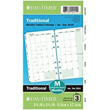 """Day-Timer Refill 2019, Two Page per Month, January 2019 - December 2019, 3-3/4"""" x 6-3/4"""", Loose Leaf, Portable Size, Classic (87129)"""
