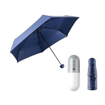 Creative Mini CáPsula Paraguas Mini Bolsillo 5 Veces Paraguas De Los Hombres Y Las Mujeres Parasol