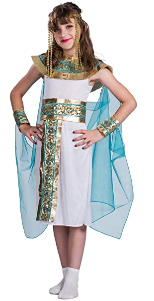 MOMBEBE COSLAND Disfraz Cleopatra Niña Traje Egipcio Vestido ...