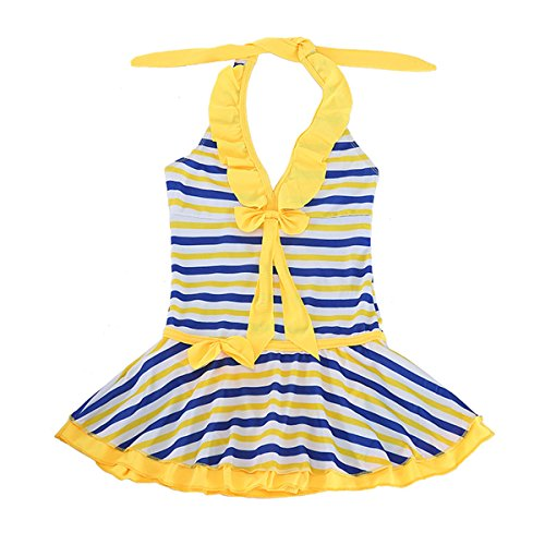 Paciffico Girls Two Piece Colorful Rainbow Cake Skirt Bathing Suit Tankini Swimsuit - Two Swimsuits Competition Piece