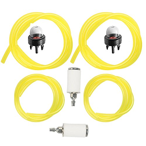 Milttor Fuel Lines with Fuel Filter & Primer Bulb for Tygon Craftsman Poulan Chainsaw (Sears Leaf Blower Parts)
