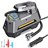 MOICO Portable Air Compressor Pump, 12V DC Digital Tire Inflator, Auto Air Pump for Car Tires,150 PSI Tire Pump with Led Light for Car,Bicycle,Motorcycle,Ball,Air Mattress and others