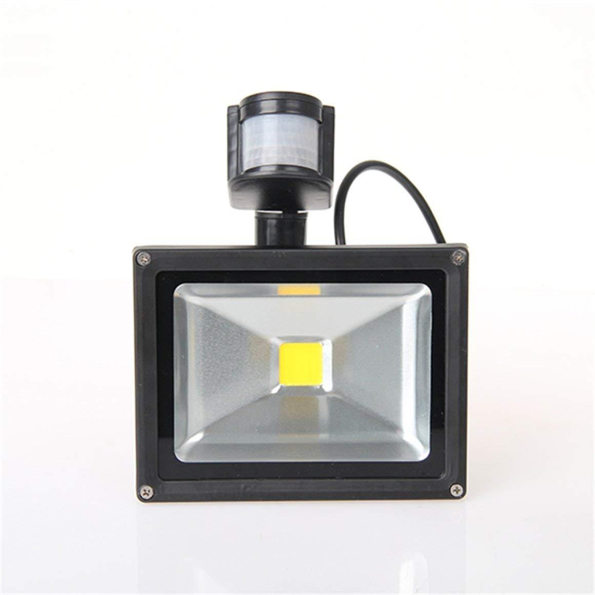 Funnyrunstore 10   20W LED proiettore di sicurezza di PIR sensore di movimento esterno della luce di inondazione IP65,bianca