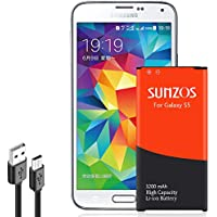 SUNZOS Galaxy S5 Battery, 3200mAh Li-ion Replacement...
