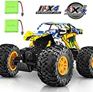 DOUBLE E RC Car 4WD Remote Control Car 2 Batteries Unique Colorful Shell Off Road Monster Truck 2 Powerful Mot
