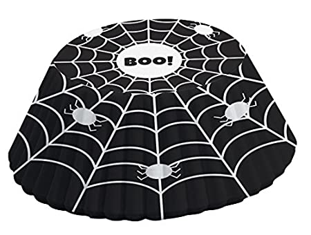 Fox Run 4352 Black and White Spider Web Bake Cups, Standard, 50 Cups