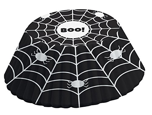 (Fox Run 4352 Black and White Spider Web Bake Cups, Standard, 50 Cups)