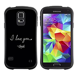Suave TPU Caso Carcasa de Caucho Funda para Samsung Galaxy S5 SM-G900 / BIBLE I Love You - God / STRONG