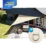 sunprotect Shade Sail professional 5x5x5m Dreieck waterproof, creme