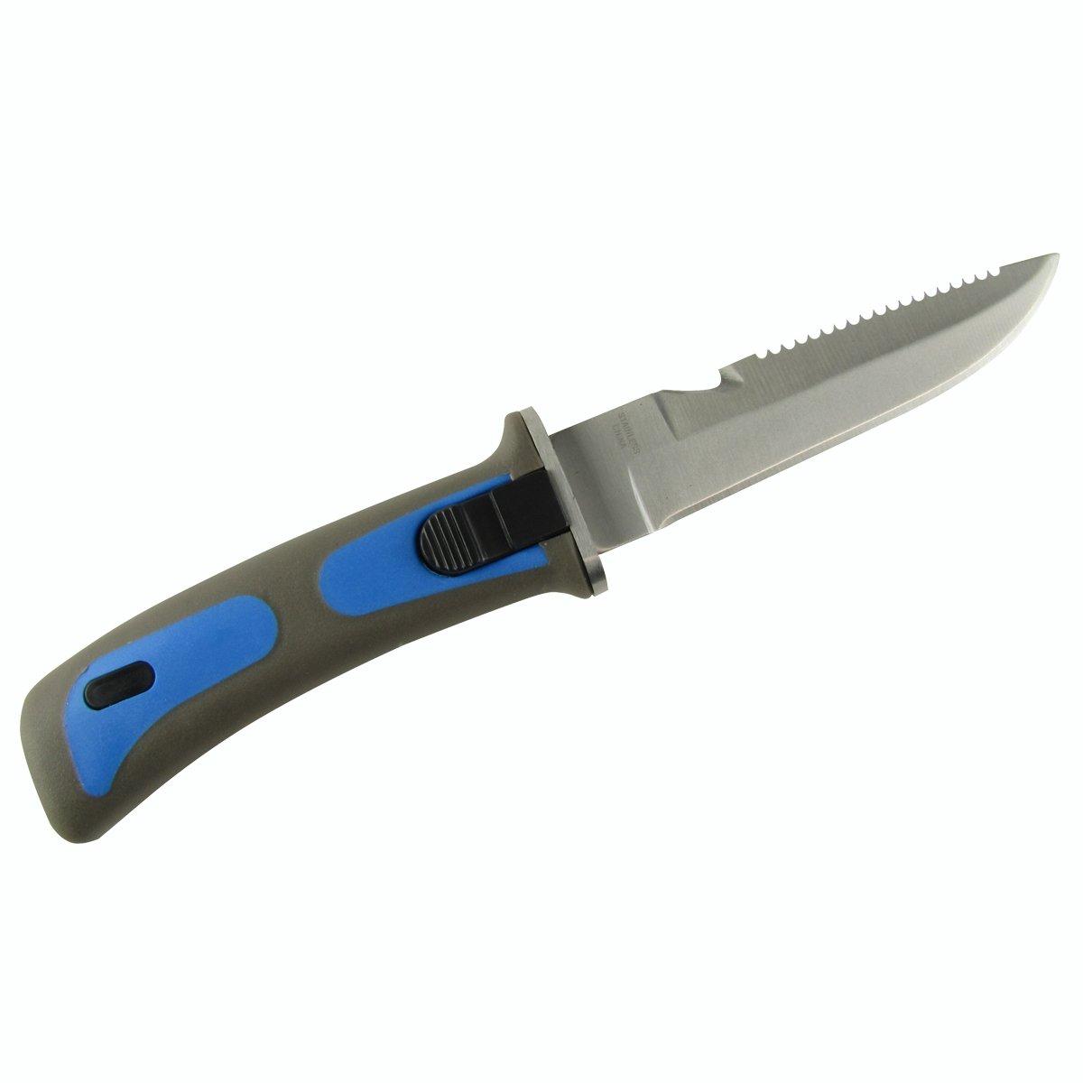 TreasureGurus, LLC Stainless Steel Blue Dive Knife with Sheath Arm or Leg Straps and Line Cutter by TreasureGurus, LLC (Image #5)