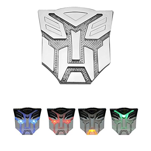 Auto Styling Car Parts - HengJia Auto Parts Car Solar energy LED Transformers Metal 3D Emblem, led Styling Warning Lamp-Optimus prime