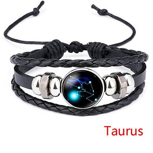 spyman Beauty:Newest Explosion HOT 12 Constellation 12 Constellation TIME Gem Bracelet Sale,Taurus