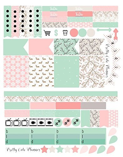 Weekly Planning Stickers / Happy Winter / Erin Condren Stickers / Happy Planner  Stickers / Planner