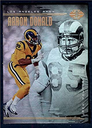 Amazon.com  2018 Panini Illusions Football  68 Aaron Donald Jack Youngblood  Los Angeles Rams Official NFL Trading Card  Collectibles   Fine Art 576a337a7