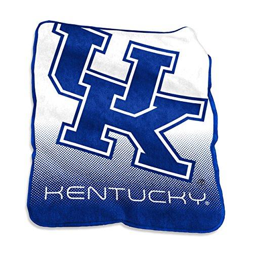 Logo Brands NCAA Kentucky Wildcats Unisex Raschel Throwraschel Throw, Royal, N/A ()