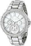 Vince Camuto VC/5179SVSV Reloj multifuncional con brazalete plateado y detalles en cristales Swarovski para mujer