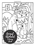 Animal Alphabet Coloring Book: ABC Letters Large One Sided Patterns