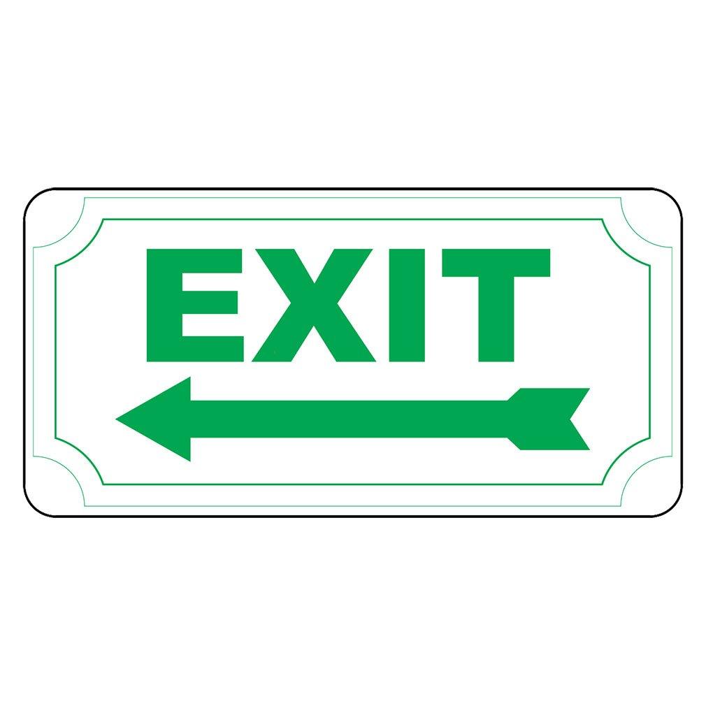 Exitグリーン矢印左レトロヴィンテージスタイルメタルサイン – 8 in x 12 in穴  B01GP8JHJK