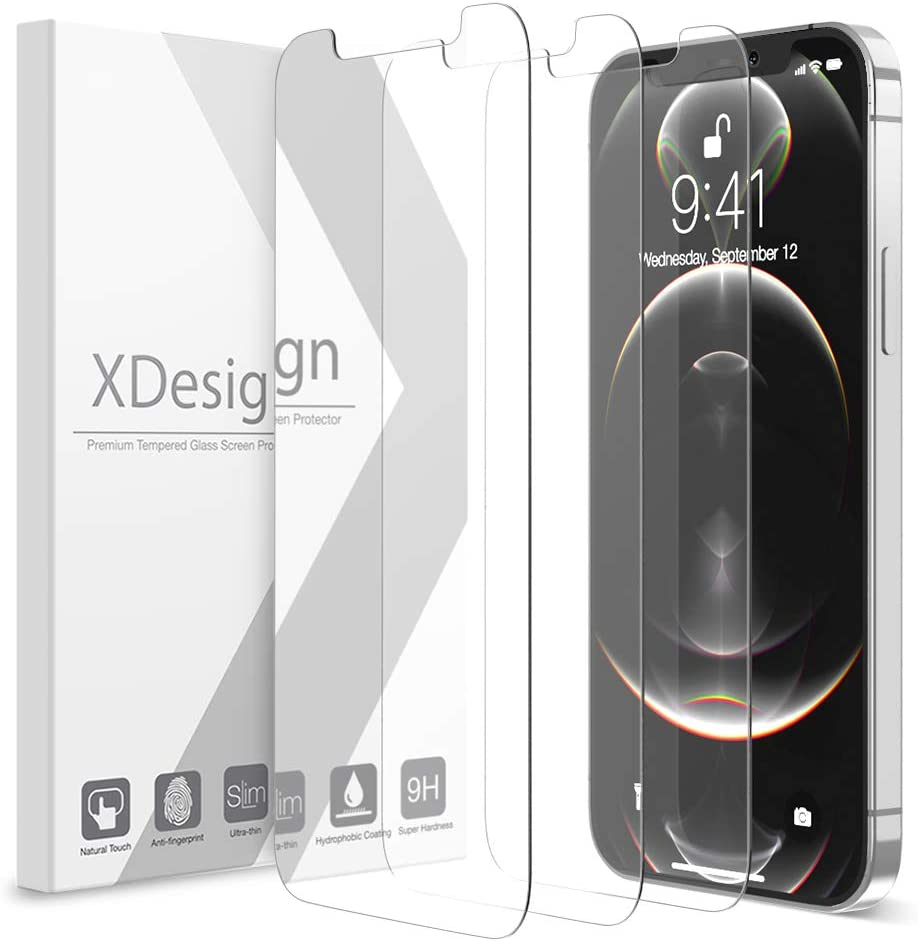 XDesign 3 Pack Screen Protector for iPhone 12 Pro Max 6.7-inch, Compatible with iPhone 12 pro max Screen Protector Tempered Glass Film with HD Clarity/Touch Accurate/Impact Absorb (2020)