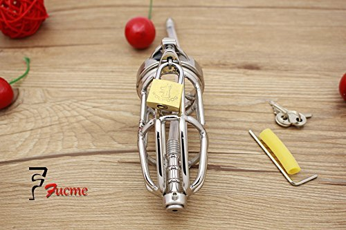 MISSLOVER Sex Toys for Men Metal Cock Ring Sex Toys Stainless Steel Chastity Device Adult Supplies Silicone Catheter with Anti-off Ring by MISSLOVER