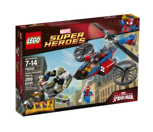 LEGO Superheroes 76016 Spider-Helicopter Rescue (Discontinued by manufacturer) (Helicopter Lego Rescue)
