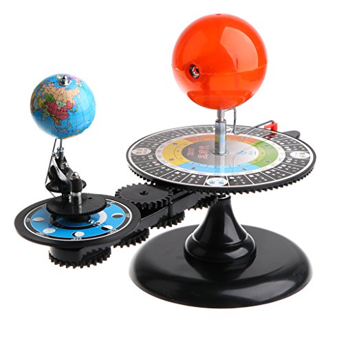 CUTICATE Sun Earth Moon Solar System Orbital Planetarium Demonstration Model with Light, Children Kids Education and Learning Toy, Creative Science Kit