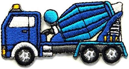 【ノーブランド品】アイロンワッペン ミニワッペン ワッペン 刺繍ワッペン ミキサー車 アイロンで貼れるワッペン