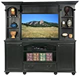Eagle American Premiere 80'' Entertainment Hutch with 52'' Opening, Black Finish