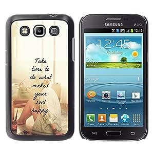 Planetar® ( Happy Love Motivational Artist Paint ) Samsung Galaxy Win / I8550 / I8552 / Grand Quattro Fundas Cover Cubre Hard Case Cover