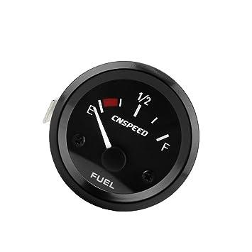 2pulgadas 52mm Indicador De Nivel De Combustible De Coche Universal Con El Sensor De Combustible Llevó Medidor De Puntero: Amazon.es: Coche y moto